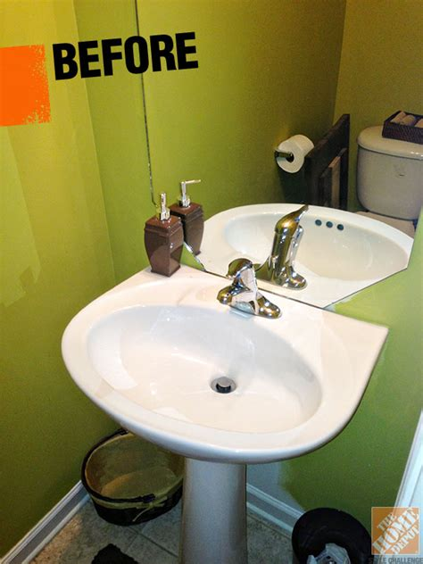 Half Bath Decorating Accent Wall And Accessories That Pop