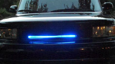 Knight Rider Led Scanner Grill Light Demo Youtube