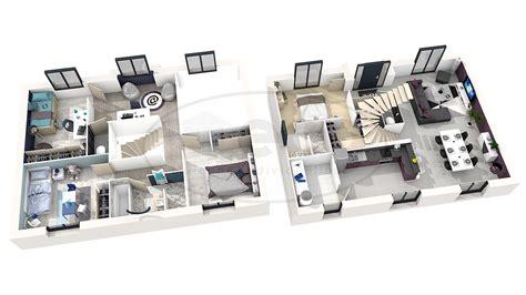 plan de maison plain pied 3 chambres avec garage maison émis