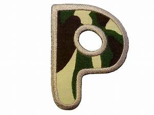 Embroidered iron on patch alphabet letter military for Embroidered alphabet letters