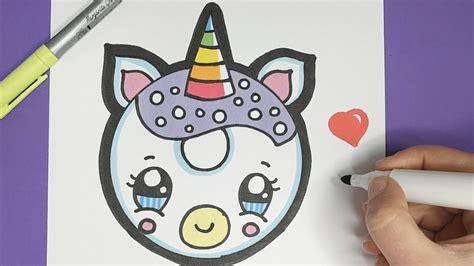 kawaii einhorn donut malen einfach und suess youtube