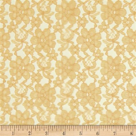Half Off Curtains by Raschel Lace Gold Discount Designer Fabric Fabric Com