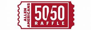 raffle ticket signs 50 50 winners allen americans hockey club