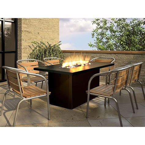 firegear key west outdoor propane gas pit dining