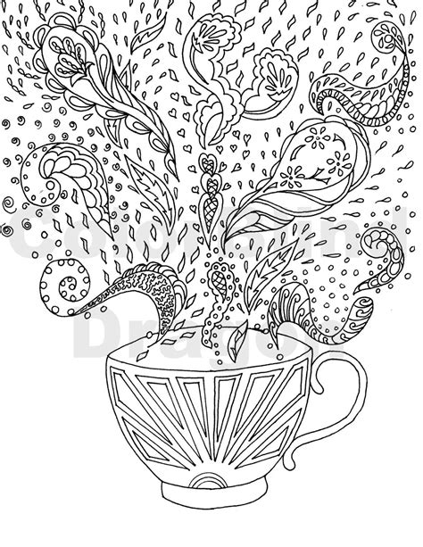 Unique and awesome embroidery designs. Coffee coloring pages, coloring pages, coloring, page, steam, hot, mug, cup, fancy, table ...