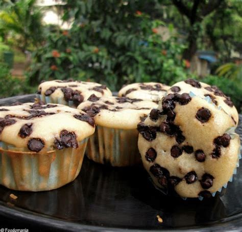 vanilla chocolate chip muffins recipe eggless cupcakes