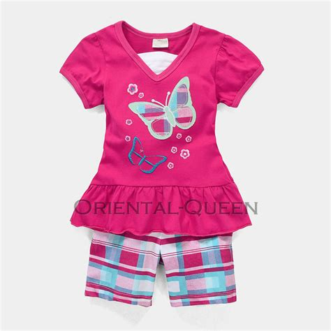 Baby Toddler Children Girls Clothes New Butterfly Tops+Shorts Sets Outfits   eBay