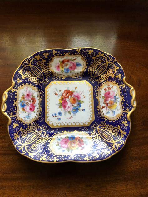 exquisite cauldon square cabinet plate  handles  sellingantiquescouk