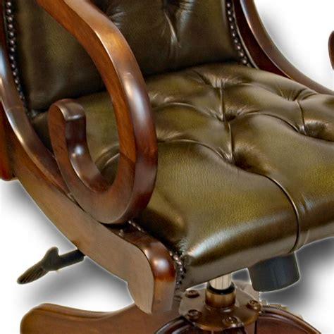 regency saddle carver desk chair