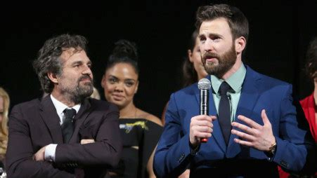 Mark Ruffalo consoles Chris Evans says, 'You can't be more ...