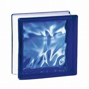 Brique De Verre Couleur : brique de verre couleur cobalt 19x19x8 cm nuag ~ Melissatoandfro.com Idées de Décoration