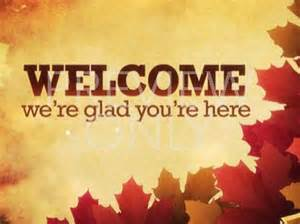 Autumn Church Welcome PowerPoint Backgrounds