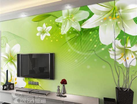 large hd mural wallpaper lilies bedroom living