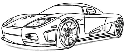 koenigsegg car drawing koenigsegg ccx1 coloring page car sketch pinterest