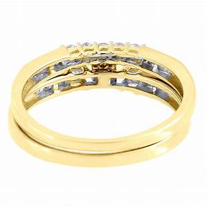 ladies 10k yellow gold diamond engagement ring princess With 10k gold ring wedding band