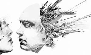 The gallery for --> Abstract Painting Face Black And White