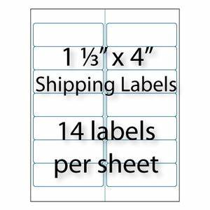 address labels 1 1 3 x 4quot 14 up averyr 5162 5962 With avery 1 x 4 label template