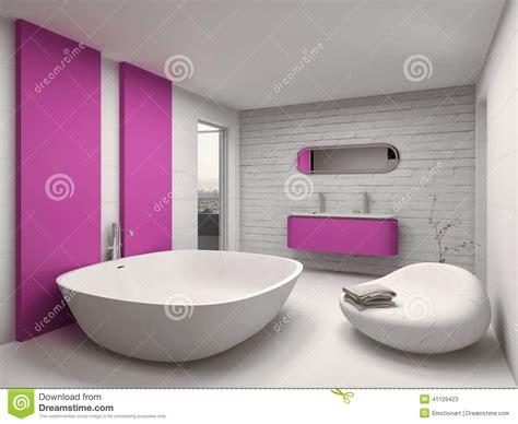 salle de bain roche bobois int 233 rieur moderne et de luxe de salle de bains avec les meubles roses illustration stock image