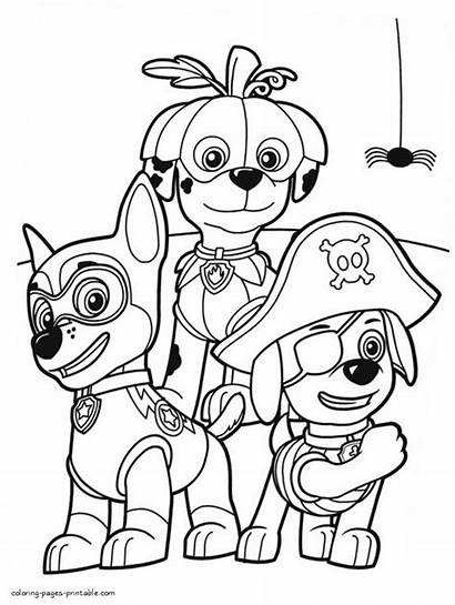 Paw Patrol Chase Drawing Coloring Pages Printable