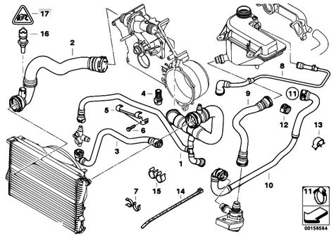 2001 Bmw 325i Engine Component Diagram by Original Parts For E53 X5 4 6is M62 Sav Engine Cooling