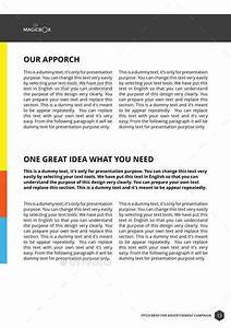 pitch brief template for advertisement campaign by With agency pitch template
