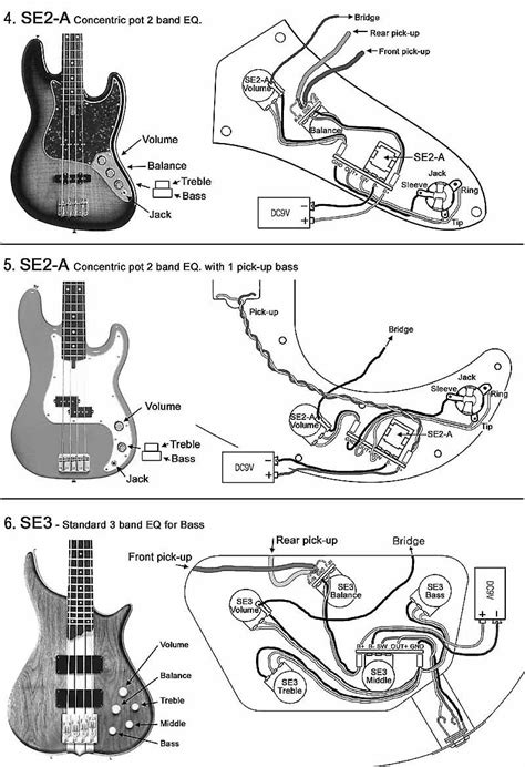 wiring diagrams for bass guitar bass wiring diagram