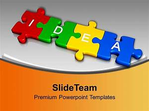 3d Jigsaw Puzzle Pieces With Idea Business Powerpoint