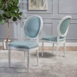 christopher oval back teal dining chairs