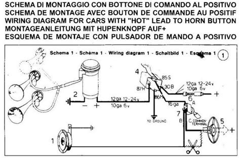 wiring  air horn good electriciansadvice appreciated