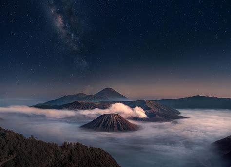 mountain nature indonesia wallpapers hd desktop