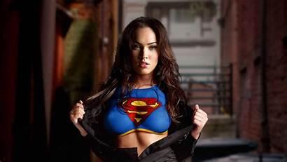 Megan Fox Supergirl 4k Cosplay Wallpapers Laptop