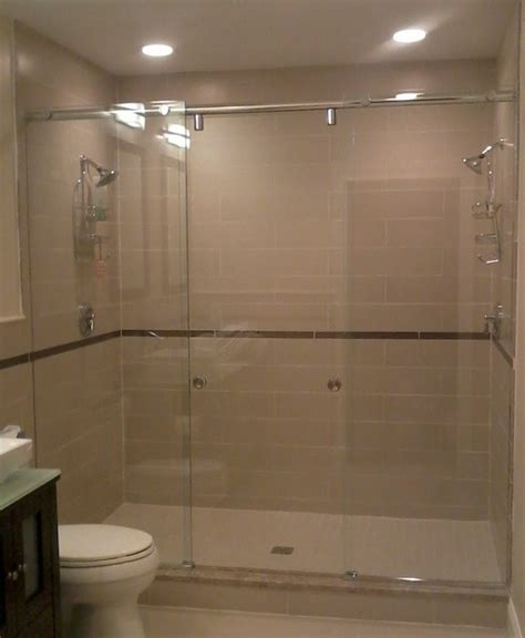 Boston  Master Bath With Dual Shower Heads  Contemporary