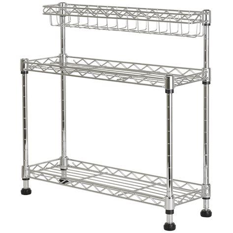 wire rack kitchen storage hartleys kitchen counter top 3 tier wire storage worktop 1559