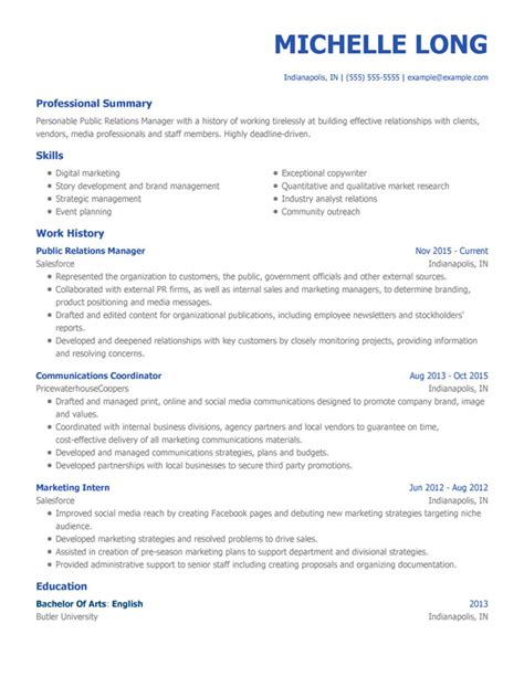 Resume Templates by Free Professional Resume Templates From Myperfectresume