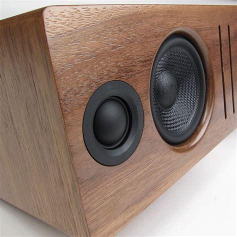 black walnut desk top audioengine b2 bluetooth desktop speaker walnut