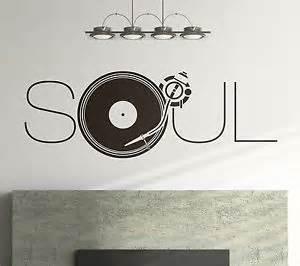 sprüche musik wandtattoo sprüche soul musik 100cm schallplatte wohnzimmer schlafzimmer flur g8 ebay