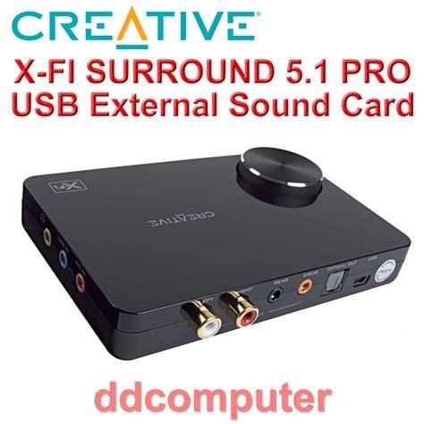 Usb Sound Card 5 1 3d Sound 5 1 creative sound blaster x fi surround 5 1 pro usb external