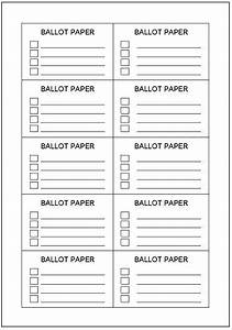 voting ballot template incheonfair With election ballots template
