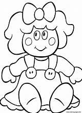 Doll Coloring Printable Dolls Drawing Cartoon Present Drawings Russian Getdrawings Adults Alphabet Getcolorings Nesting Bratz sketch template