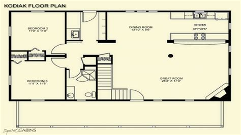 Log Cabin Floor Plans With Loft Open Floor Plans Log Cabin