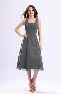 Grey simple a line square sleeveless zip up wedding guest for Grey wedding guest dress
