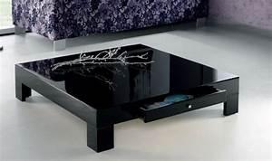 Table Basse Noire Design : la table basse design en 33 exemples uniques ~ Carolinahurricanesstore.com Idées de Décoration