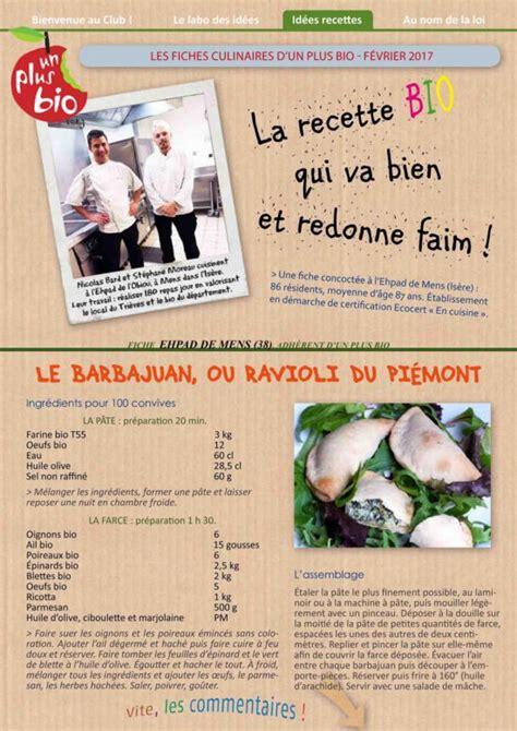fiche recette cuisine la recette de l 39 ehpad de mens isère le barbajuan un