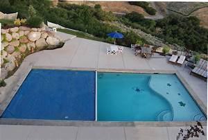 Semi Inground Pool With Deep End Backyard Design Ideas