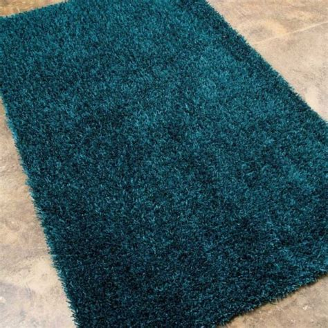 Gray And Teal Bathroom Rugs by Flux Teal Blue Area Rug Rugs By Purehome