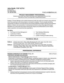 project manager resume template it project manager resume template premium resume sles exle
