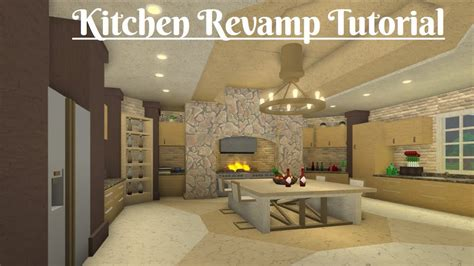 robloxbloxburg kitchen revamp tutorial youtube