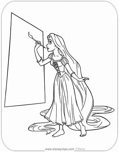 Coloring Tangled Painting Disneyclips Rapunzel Disney Mother