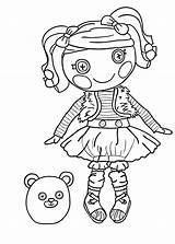 Coloring Pages Lalaloopsy Printable Furry Rag Doll Halloween Sheets Getdrawings Getcolorings Getcoloringpages Popular sketch template