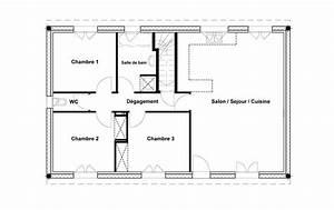 Plan Maison 1 Chambre 1 Salon : construction maison 80 m2 ventana blog ~ Premium-room.com Idées de Décoration